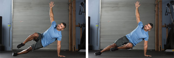 marching side plank