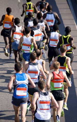 marathon athletes