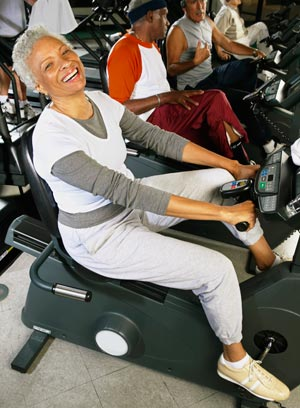 older adult exercising