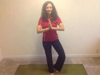 Tree Pose With Namaste