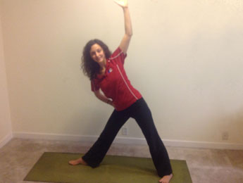 Supported Triangle Pose