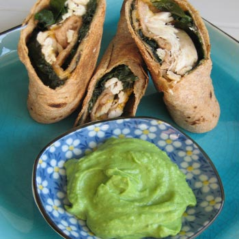 Crispy Chicken and Kale Taquitos