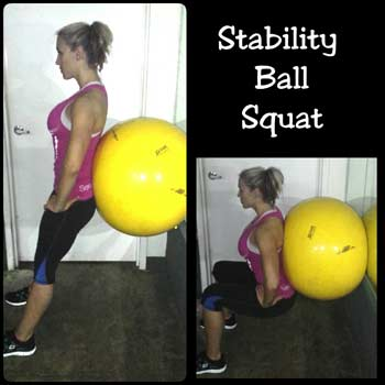 Stability Ball Squat