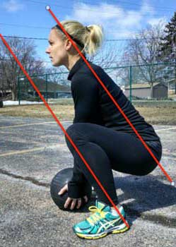 Heavy ball squat