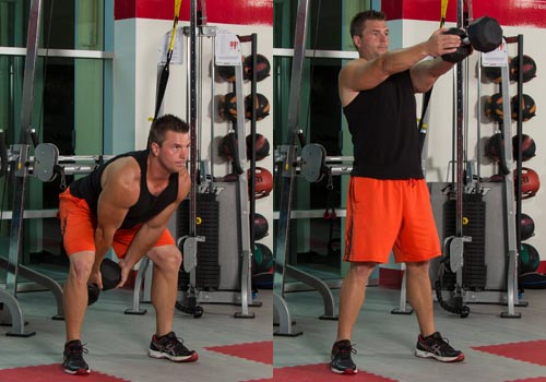 Dumbbell Forward Swing