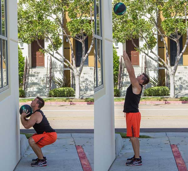 Medicine Ball Wall Throw