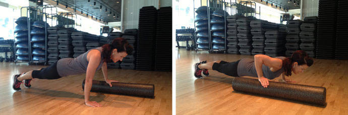 Foam Roller Push-up