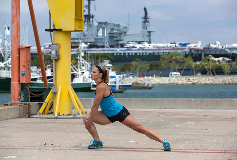 Side Lunge with Torso Rotation