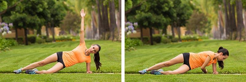 Side plank rotation