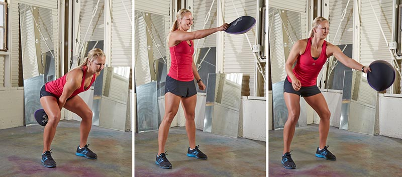 Alternating Single-arm Sandbell Swings