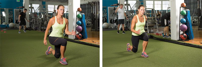 backward walking lunges