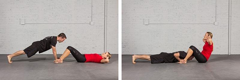 push-ups and sit-ups