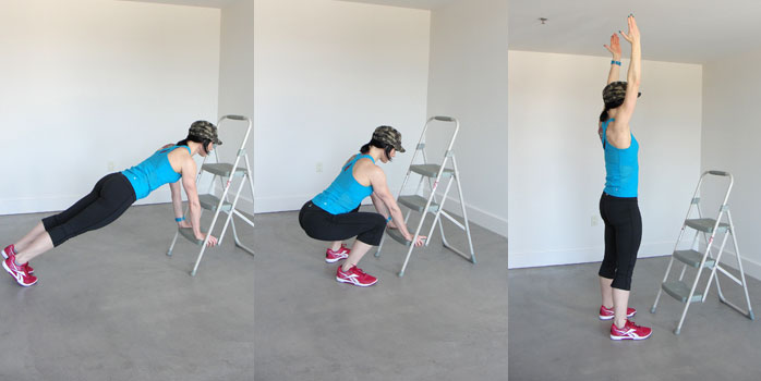 Burpees with twist