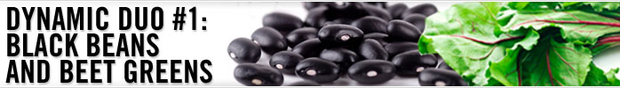 Black beans and beet greens