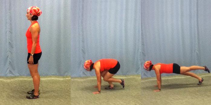 Single leg squat thrust