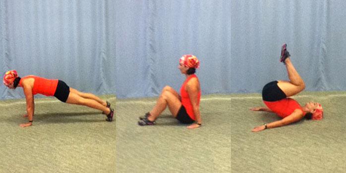 Rolling squat