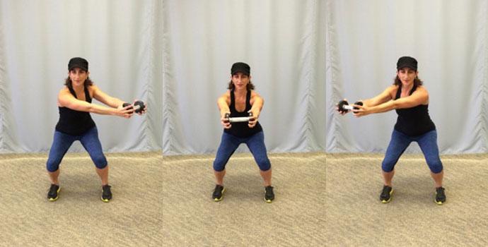 3-point push squat