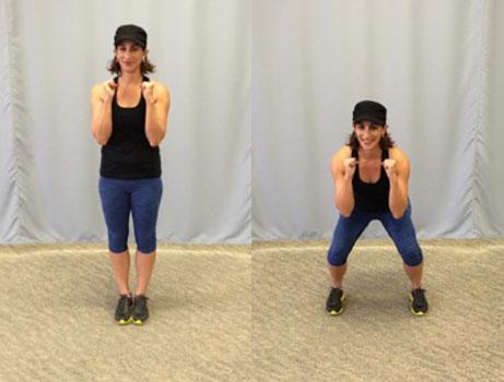 Side-step squat