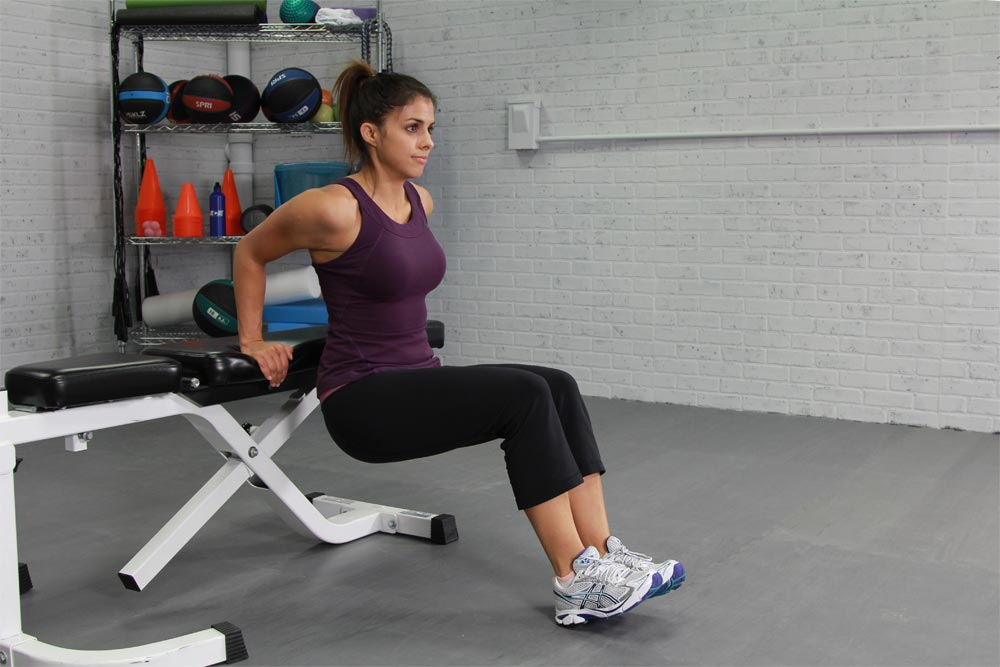 Triceps Exercises: Body-weight Bench Dips vs. Dumbbell Triceps Kickbacks