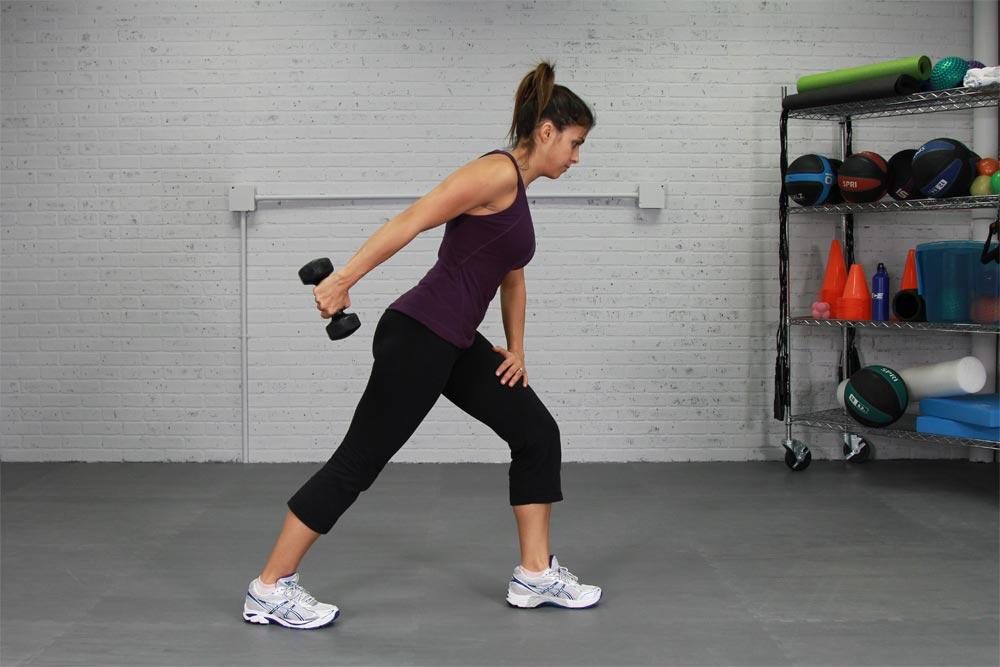 Dumbbell Triceps Kickbacks