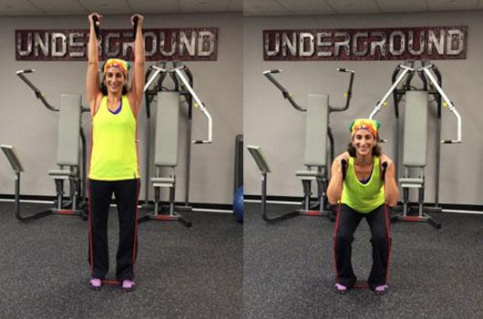 Squat to Shoulder Press
