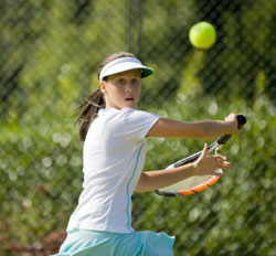 youth fitness girl tennis