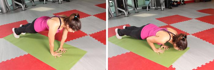 Triangle push-up