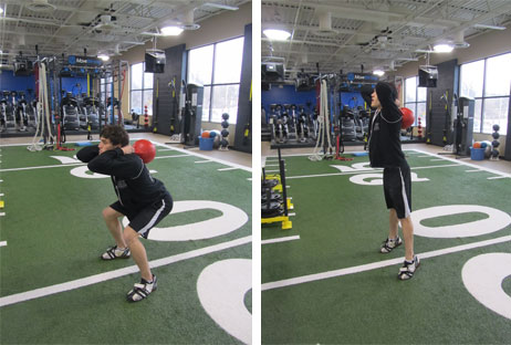 Behind-the-Neck Jump Squats