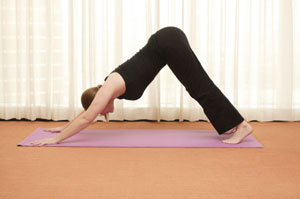 yoga in hotel room