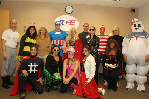 ACE staff Halloween costumes