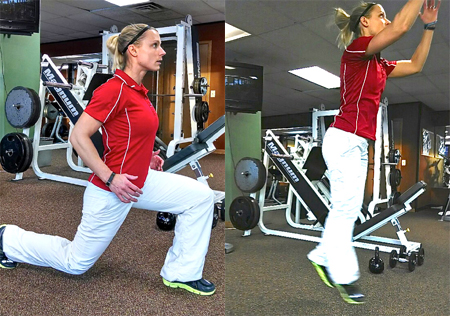 Lunge Switch Jumps