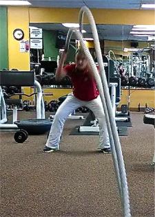 Battling Rope Slams