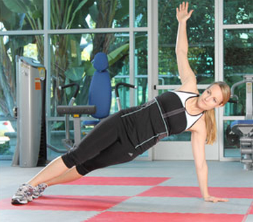 Plank with rotation