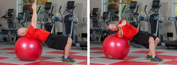 Stability ball twist