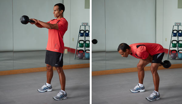kettlebell two-arm swing