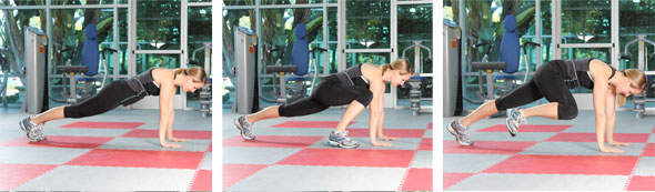 Plank With Hip Flexion Extension