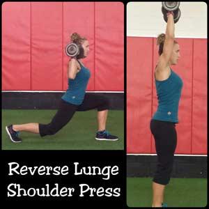 Reverse Lunge with shoulder press
