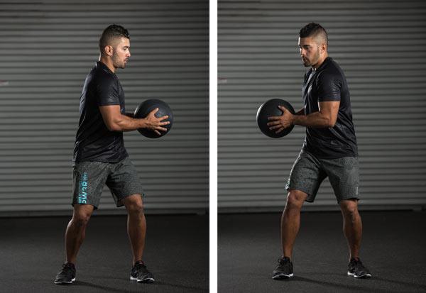 medicine ball rotations