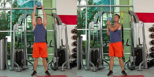 Shifting KB Shoulder Press