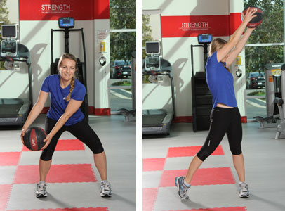 Medicine Ball Lift With Rotation