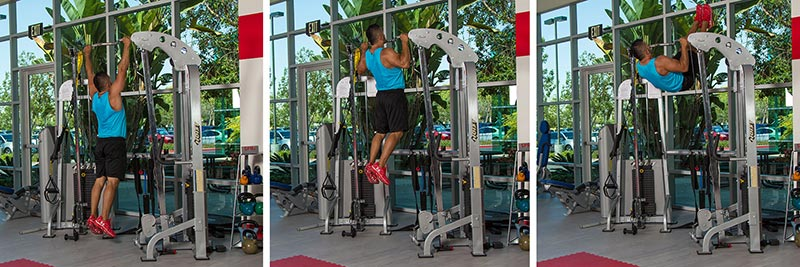 Pull-up with Vertical Leg Shoot