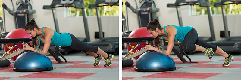 BOSU Spiderman Planks