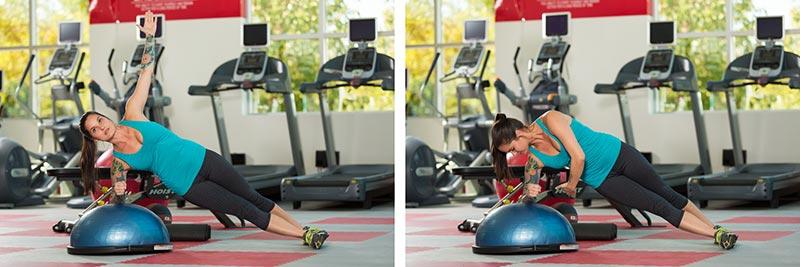 BOSU Side Plank with Reach
