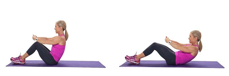 Stott Pilates Half Roll Back