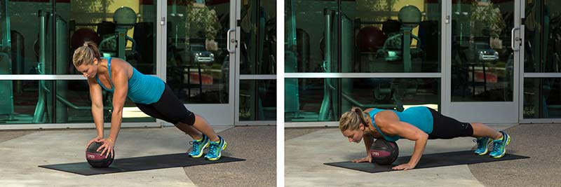 Medicine ball power push-up