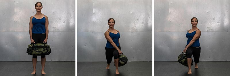 Rotational Lunge With Hold at Bottom