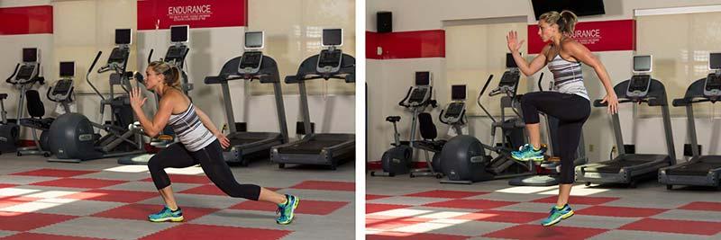 Single-leg squat jumps