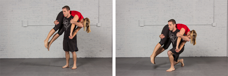 Fireman carry lunge