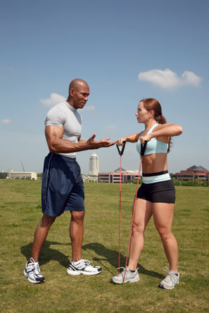 personal trainer client fitness