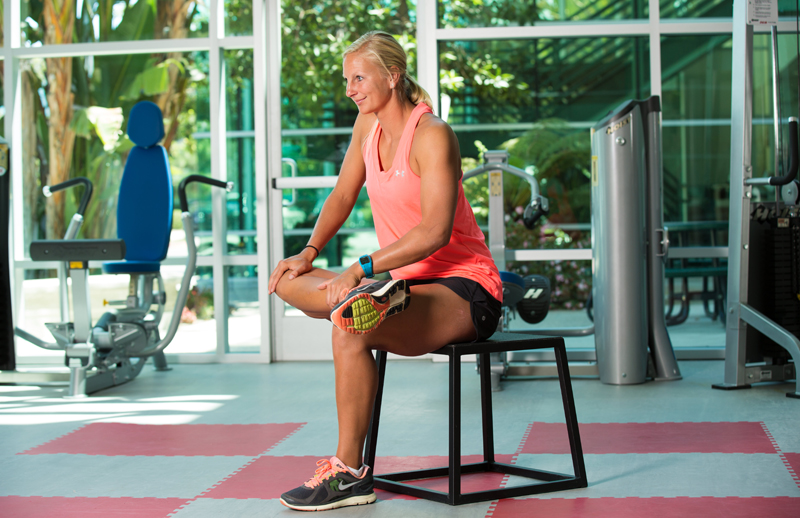 Seated Figure-4 Stretch
